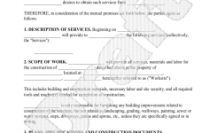 Sample Construction Contract Form Template Trucking Construction