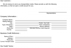 Sample Credit Reference Letter Template