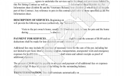 Sample Pet Sitting Contract Form Template Pet Sitting Business