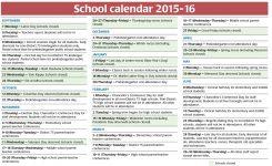 School Calendar 2015 2016 United Federation Of Teachers