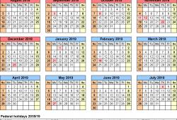 Free School Calendar 2018 2018