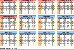 Academic Calendar For Schools In Usa