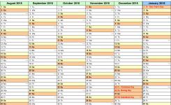 School Calendars 20152016 As Free Printable Word Templates