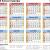 Printable School Calendar 2019