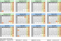 Free Printable School Year Calendar