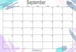 Sep 2021 Calendar Free Printable