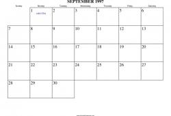September 1997 Calendar