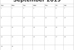 Free September 2019 Printable Calendar Templates Us Edition