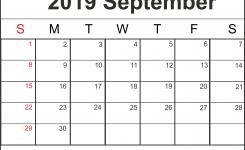 September 2019 Printable Calendar Templates Pdf Excel Word