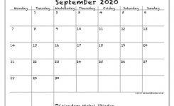 September 2020 Calendar 77ms Michel Zbinden En