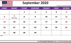 September 2020 Usa Holidays Calendar | Holiday Calendar, Usa