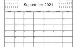 September 2021 Calendar – Free Printable – Allfreeprintable