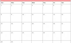 September Blank And White Calendars 2018 June 2018 Calendar