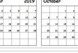 October 2019 Calendar Printout