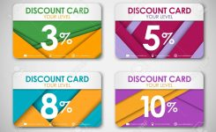Set Of Color Discount Cards Discount Cards In The Style Of The