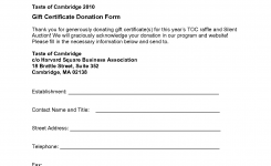 Silent Auction Gift Certificate Template Certificatetemplategift