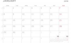 Simple 2018 Printable Pdf Calendar
