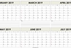 February July 2019 Calendar