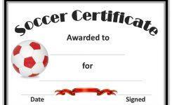 Soccer Award Certificate Templates Canasbergdorfbibco