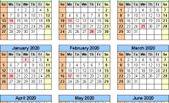 Split Year Calendar 201920 July To June Word Templates