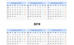 Split Year Calendars 2018 2019 Calendar From July 2018 To June 2019