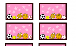 Sports Balls Pink Free Printable Ba Shower Games Ba Shower