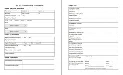 Student Learning Plan Template Nursing Individualized Objectives
