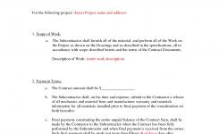Subcontractor Agreement Template Subcontractor Agreement Template