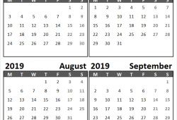 June August 2019 Calendar Sunday Start