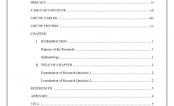 Table Of Contents Thesis And Dissertation Research Guides At Sam