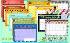 Teachers Corner Printable Calendar Printable Calendar Pages The