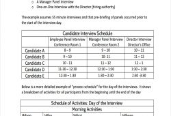 Interview Schedule Template
