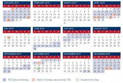 2019 Calendar Qld Australia