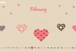 Free February 2018 Religious Valentine Calendar Wallpaper