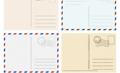 Travel Postcard Templates Greetings Post Cards Vector Image