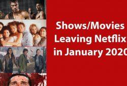 Netflix Movies Leaving January 2020