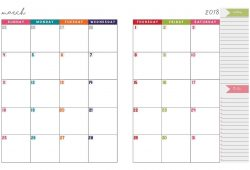 Two Page Spread Free Printable Calendar 2018