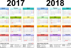 Calendar For 2018 And 2018 Uk