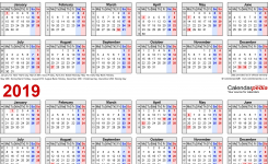 Two Year Calendars For 2018 2019 Uk For Pdf