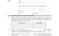 Uk Nanny Employment Contract Legal Forms And Business Templates