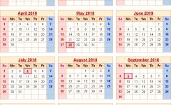 United States 2018 Monthly Calendar Shoot Design