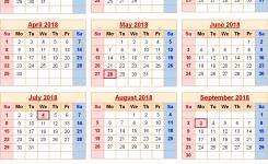 Usa Calendar 2018 With Holidays Flash Design
