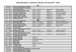 Event Calendar Usa 2018