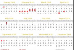 Vietnam Calendar 2018