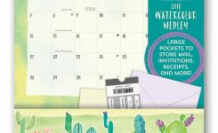 Watercolour Medley Pocket Calendar 2018 Calendar Club Uk