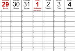 Weekly Calendar 2020 Printable