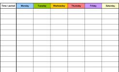 Weekly Calendar Template Free Download