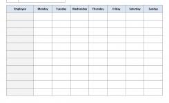 Weekly Employee Work Schedule Template Free Blank Schedulepdf