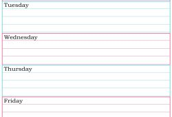 Free Printable Weekly Planner Templates