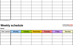 Weekly Schedule Template For Word Version 9 2 Schedules On One Page